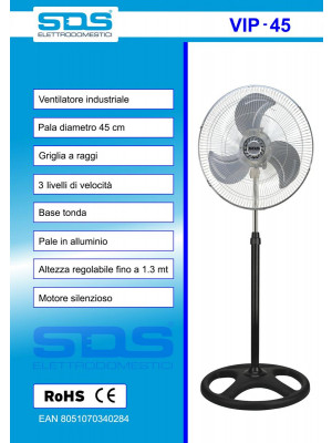 VENTILATORE SDS VIP 45 PIANTANA